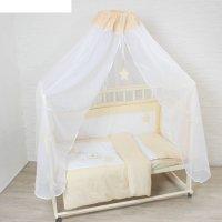 Комплект в кроватку котик (7 предметов), цвет бежевый 7060беж