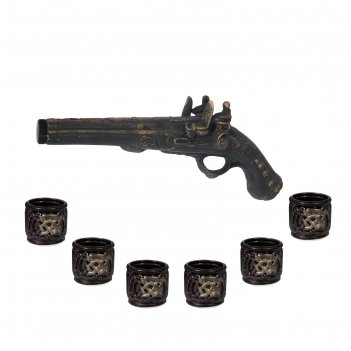 Штоф с рюмками пистоль набор 7 предметов 0,35/0,08 л