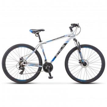 Велосипед 29 stels navigator-900 md, f010, цвет серебристый/синий размер 2