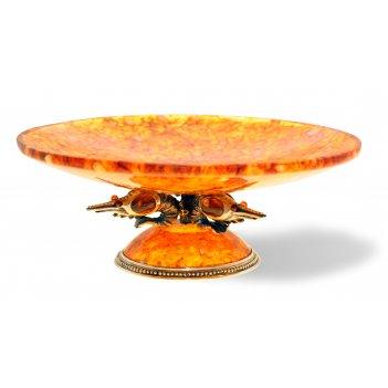 Блюдо креветки из янтаря