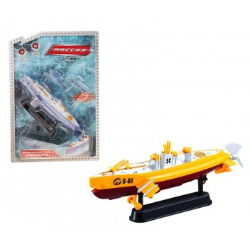 Катер заводной подводная лодка, стреляет, цвета микс