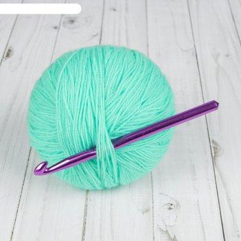 Крючок для вязания, алюминиевый, d=10мм, 15см