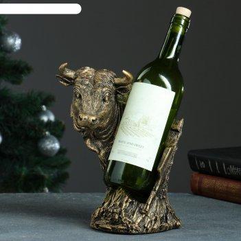 Подставка под бутылку бык бронзовый, 16х21х25см