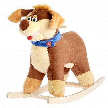 Мягкая качалка собака-весельчак цвета микс
