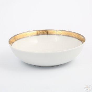 Набор салатников thun кристина платиновая золотая лента 19 см(6 шт)