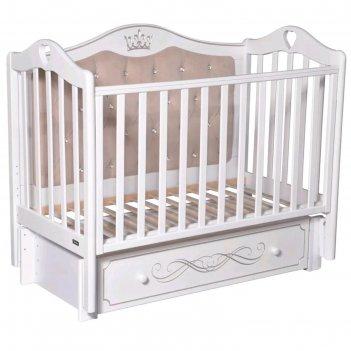 Детская кровать rouz elegance premium, мягкая стенка, маятник, ящик, цвет