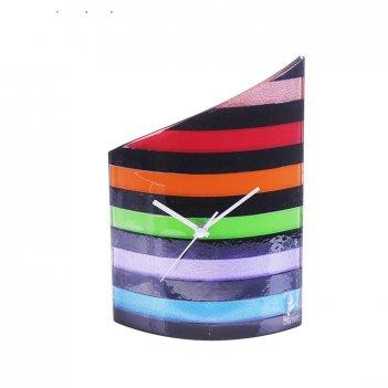 Часы настольные разноцветные полосы