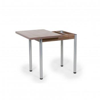Стол ирис поворотно-раскладной (ножки окрас серебро), 1200x600x750, шимо т