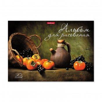 Альбом д/рис на клею а4 30л erichkrause хурма и виноград, жест подл, блок