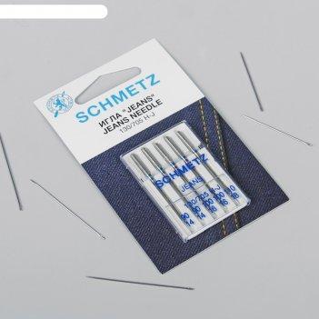 Иглы для бытовых швейных машин, для джинсовых тканей, №90/100/110, 5 шт