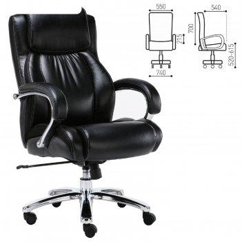 Кресло офисное brabix premium status hd-003, рециклированная кожа, хром, ч