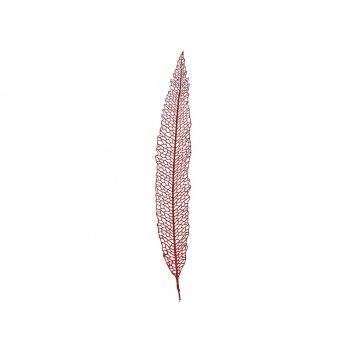 Изделие декоративное лист длина=90см. красный (кор=100шт.)