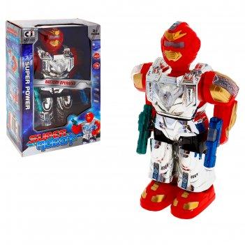 Робот космический герой, работает от батареек, световые и звуковые эффекты