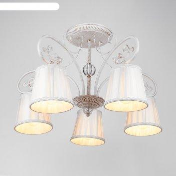 Люстра милена 5 ламп, 60w, e27, размер 59х59х59х0 (см)
