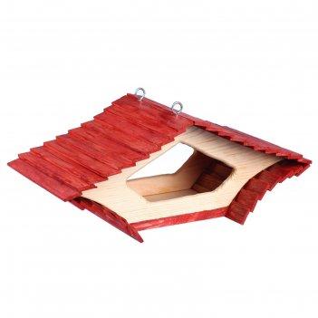 Кормушка ромб, 22*41*17см; материал: дуб, сосна; покрытие: аквалазурь, акв
