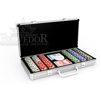 Набор для игры в покер на 300 фишек 4aces