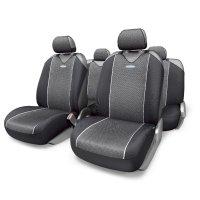 Чехол-майка autoprofi carbon plus zippers crb-902pz bk/gy, закрытое сидень
