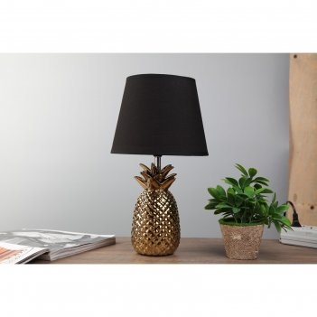 Лампа настольная с абажуром ананас е14 золото 20х20х36,5 см