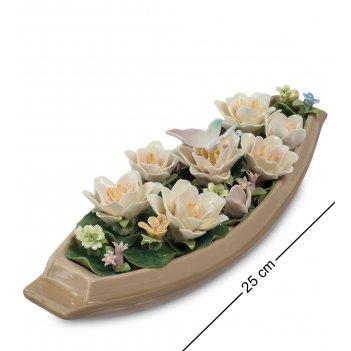 Cms-33/59 композиция лодка с цветами (pavone)