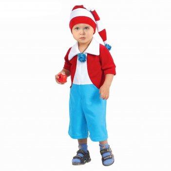 Карнавальный костюм буратино от 1,5-3-х лет, комбинезон, шапка