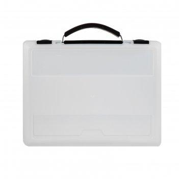 Портфель-кейс а4 с выдвижной ручкой, прозрачный пф20