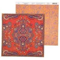 Бумага для скрапбукинга восточные сказки персидский ковер 29.5 х 29.5 см 1