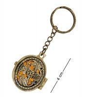 Am-1611 брелок медальон лоза (латунь, янтарь)