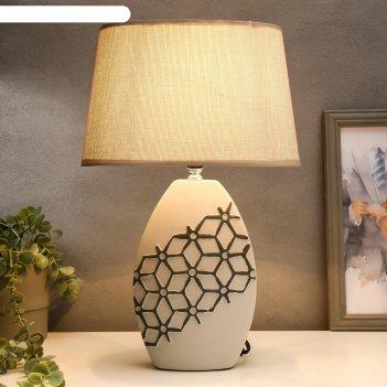 Лампа настольная с абажуром е14 40вт 220в молекулы 27х18х41см