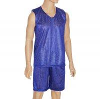 Форма баскетбольная двухстороняя мужская р. 2хl, рост 170 см, цвет синий-б