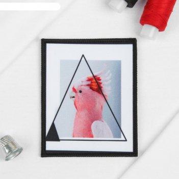 Пришивная аппликация «попугай», 10 х 8 см