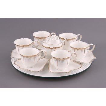 Чайный сервиз на 6 персон 16 пр. цветочная симфония 150 мл