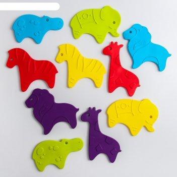 Антискользящие мини-коврики roxy-kids для ванны. серия safari. цвета в асс