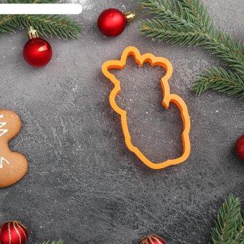 Форма для пряников «коровка с бантиком», цвет оранжевый