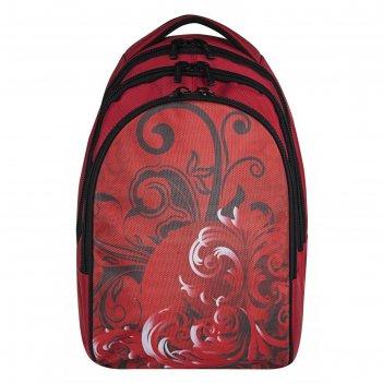 Рюкзак, красный, 400x280x180