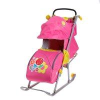 Санки-коляска ника детям 5 -леденец