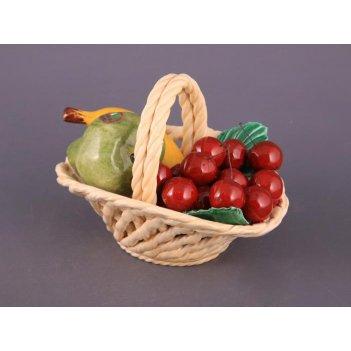 Изделие декоративное корзина с фруктами 20*15*18 см