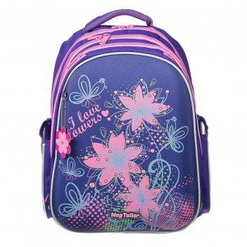 Рюкзак каркасный mag taller stoody ii, 40 х 30 х 20, для девочки, flowers,