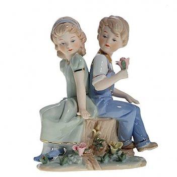 Фигурка декоративная мальчик и девочка, l14 w8 h17 см