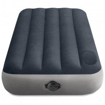 Матрас надувной single-high, 99 х 191 х 25 см, встроенный насос на батарей