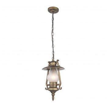 Светильник 1496-1p, e27, 60 вт, ip44, цвет золотисто-коричневый