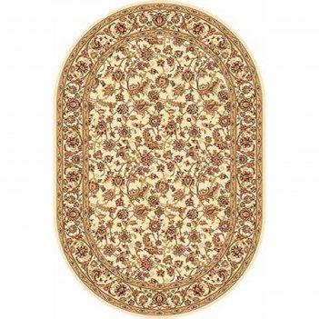 Овальный ковёр izmir d155, 200 х 500 см, цвет cream