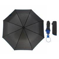 Зонт полуавтомат акцент, полуавтоматический, r=47см, цвет чёрный/синий