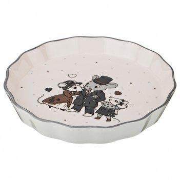 Блюдо для запекания ля мур. мышки 24*24 см.высота=4 см.(кор=24шт.)