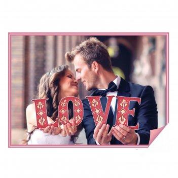 Буквы для фото love (цвет красный)