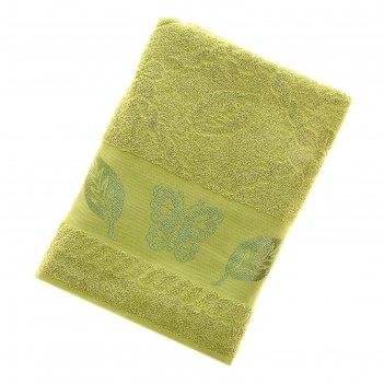 Полотенце махровое fiesta cotonn butterfly 70*140см зеленый 500гр/м, хлопо