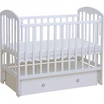 Кроватка детская фея 328,  универсальный маятник, цвет белый
