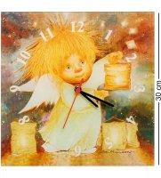 Ang-484 часы ангел, дарящий свет 30х30