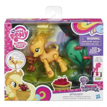 My little pony. мини-набор эппл джек с артикуляцией