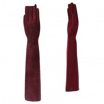 Перчатки женские натуральная кожа (размер 6-7) бордовый