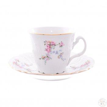 Набор чайных пар ведерка bernadotte дикая роза золото 200 мл(6 пар)